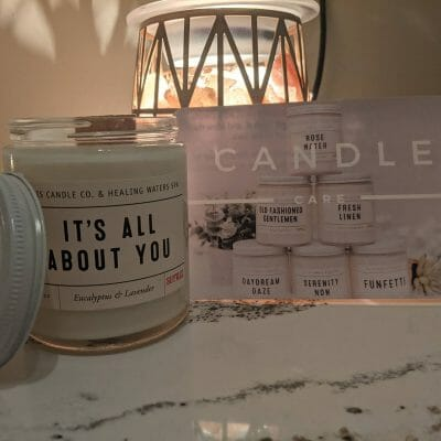 """It's All About You"" Eucalyptus & Lavender Candle (Wooden Wick)"