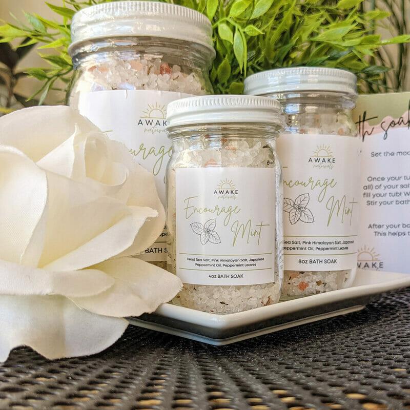 "Awake Naturals ""Encourage Mint"" Bath Salt"